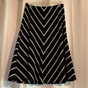 NWT White House Black Market Chevron Skirt